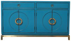 Block & Chisel Blue Chinese Sideboard