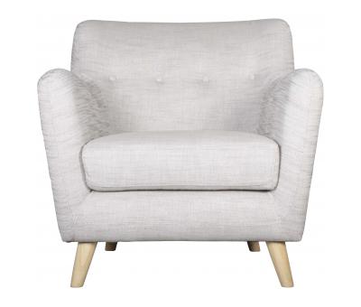 Block & Chisel beige upholstered armchair