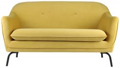 Block & Chisel velvet yellow Sofa with deep button