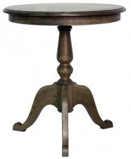 Block & Chisel lamp table in solid colonial brown oak