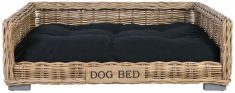 Block & Chisel kubu rattan pet basket bed with cushion