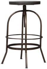 Block & Chisel round swivel resin top barstool with iron base