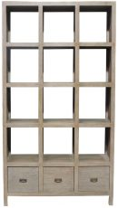 Block & Chisel teak wood bookcase