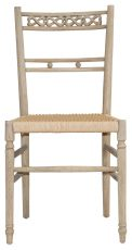 Block & Chisel weathered oak dining chair with woven seat