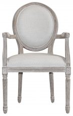 Block & Chisel spa back carver chair with burnt oak frame
