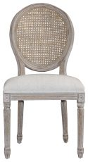Block & Chisel spa back dining chair with burnt oak frame
