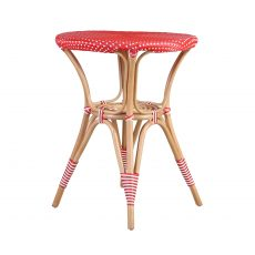 red and white cafe garden table