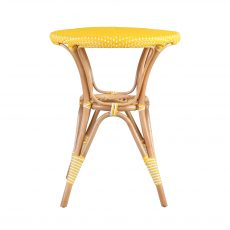 yellow and white cafe garden table