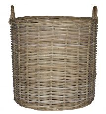 Block & Chisel large round rattan basket with handle