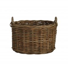Block and chisel rattan oval basket