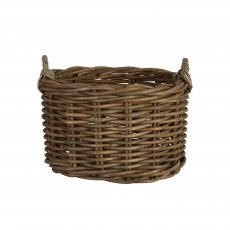 Block & Chisel oval rattan basket with handle