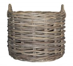 Block & Chisel round rattan basket with handle