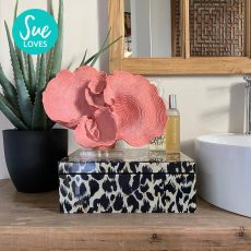 Block & Chisel polyresin coral with acrylic stand