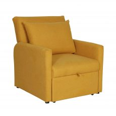 Mustard yellow armchairs or bed