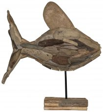 Block & Chisel drift wood with nail fish sculpture