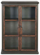 Block & Chisel Iron cabinet with glass doors