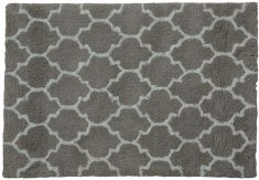 Block & Chisel grey carpet with white print