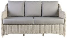 Block & Chisel rattan outdoor 2.5 seater sofa