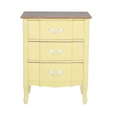 3 drawer Odelia bedside in yellow