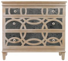 Block & Chisel wooden chest of drawers with antique mirror detail