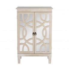 Block & Chisel wooden bedside table with antique mirror detail