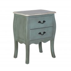 Block and chisel distressed 2 drawer bedside