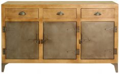 Block & Chisel mango wood sideboard with iron door and legs