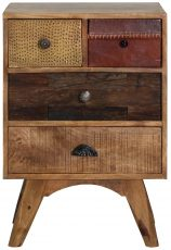 Block & Chisel mango wood bedside table with deconstructed finish