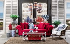 chesterfield sofa in cherry red