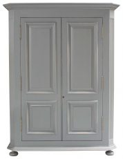 Block & Chisel solid oak armoire in Chimney Sweep Grey