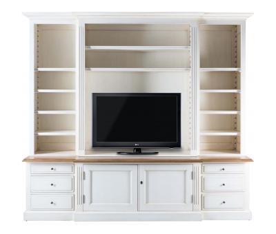 Block & Chisel weathered oak tv unit in antique white
