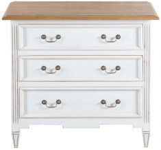 Block & Chisel antique white weathered oak 3 drawer chest