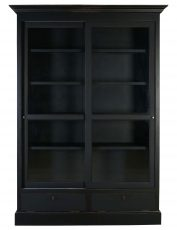 Block & Chisel ECS Sliding Bookcase in matt black finish