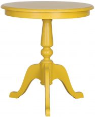 Block & Chisel round yellow lamp table