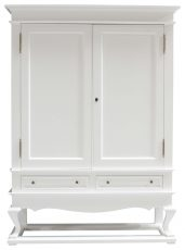 Block & Chisel weathered oak drinks cabinet with white lacquer