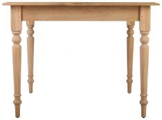 Block & Chisel square solid oak dining table