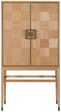 Block & Chisel natural oak drinks cabinet