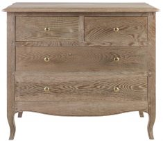 Block & Chisel solid vintage oak 4 drawer chest