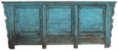 Block & Chisel blue rustic Chinese sideboard
