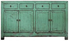 Block & Chisel green rustic Chinese sideboard