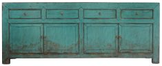Block & Chisel blue rustic TV unit