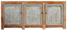 Block & Chisel cream rustic Chinese sideboard with orange trim
