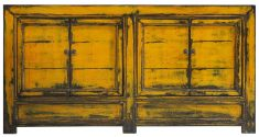 Block & Chisel yellow rustic Chinese sideboard