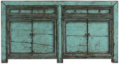 Block & Chisel distressed blue plywood and pine wood sideboard