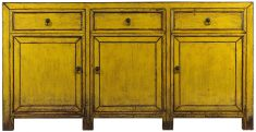 Block & Chisel yellow wooden sideboard