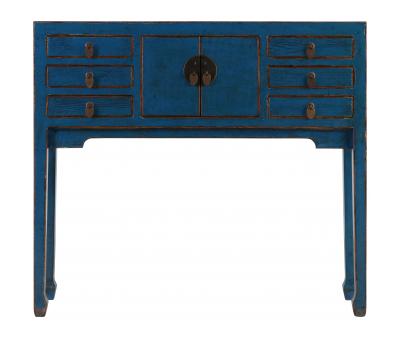 Block & Chisel blue wooden console
