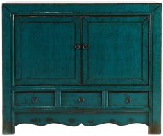 Block & Chisel blue wooden sideboard