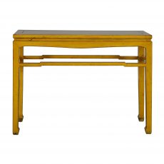 yellow lacquered chinese console
