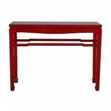 red lacquered chinese console