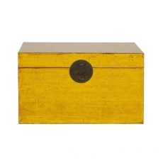 yellow lacquered storage kist